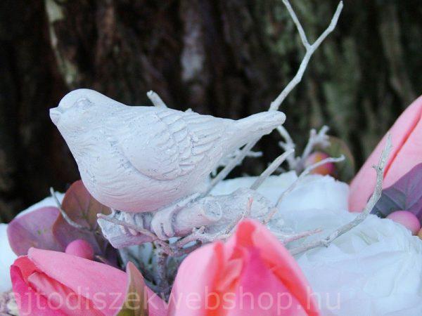 Tavaszi asztaldísz natúr rózsaszín