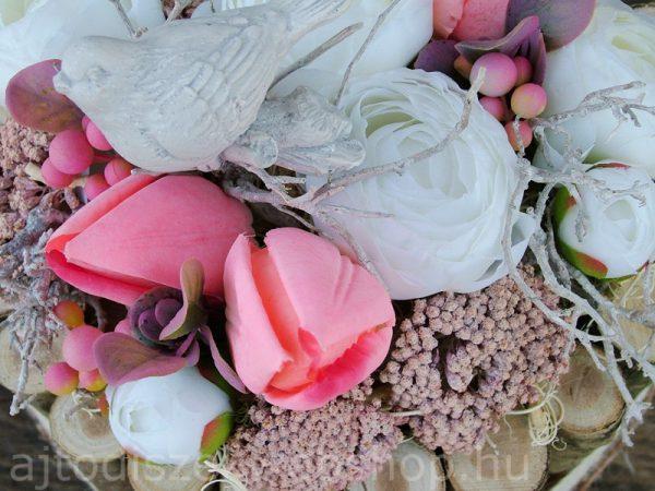 Tavaszi dísz asztalra tulipános, madaras