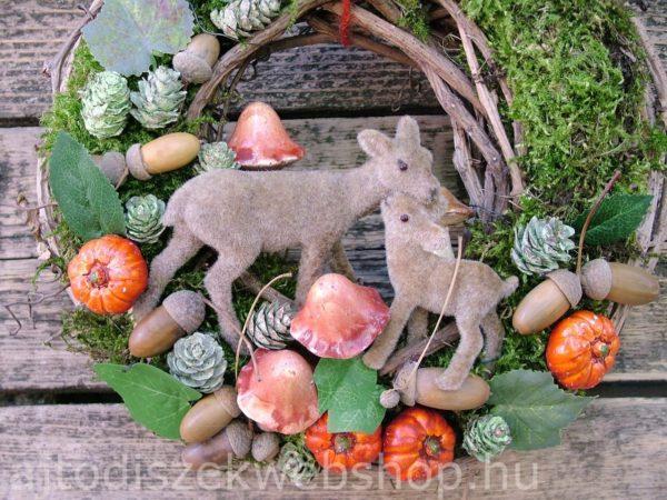 Őszi ajtódísz őzikékkel