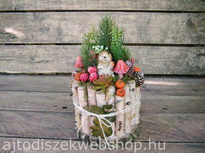Őszi asztaldísz sünivel 1