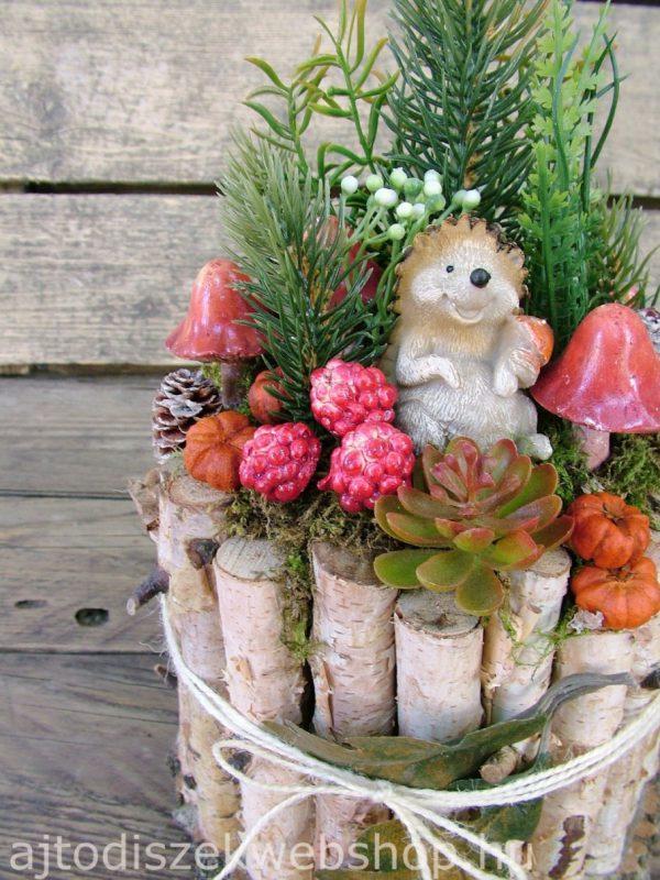 Őszi asztaldísz sünivel 4