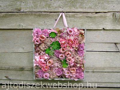 Selyemvirág falidísz lila 1
